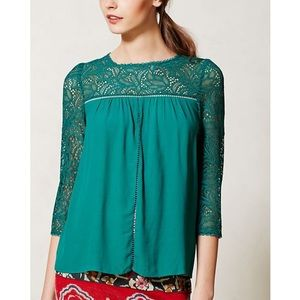 Anthro Moulinette Soeurs Lace Cloaked Blouse